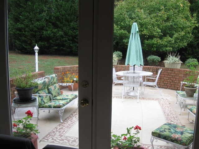 Patio view from Dining Room