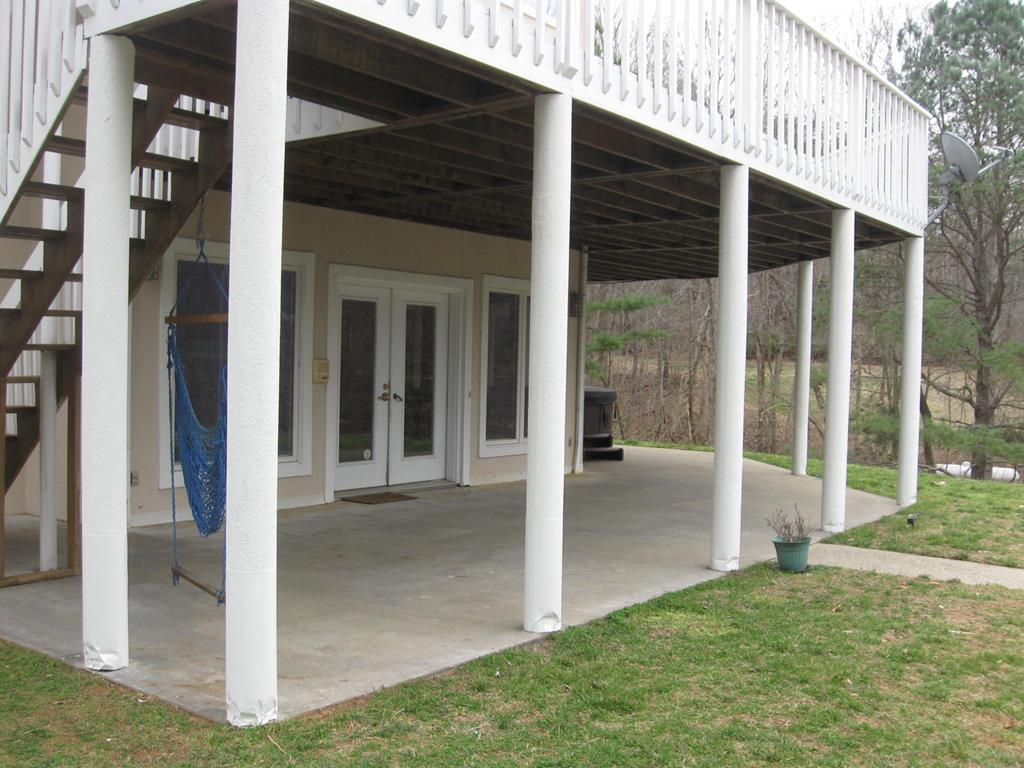 Porch under deck